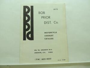 1975 Bob Prior Distributing Co. Motorcycle Exhaust Catalog Harley Honda B2706