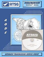 Atsg Ford Aod-e Aode Transmisson Training Dvd Video & Rebuild Manual Combo Pack