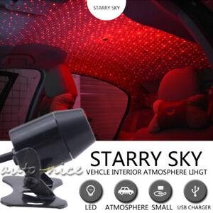 Red Led Projector Galaxy Light Home Car Roof Star Ceiling