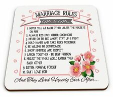 Marriage Rules - And They Lived Happily Ever After... Novelty Glossy Mug Coaster