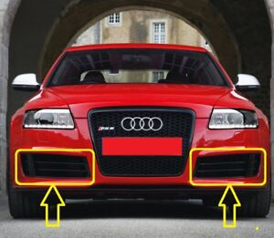 Genuine-AUDI-RS6-C6-2008-2010-Front-Bumper-Lower-Grill-LEFT-RIGHT-PAIR-SET