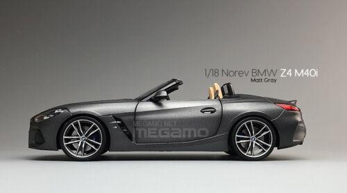 1//18 Norev BMW G29 Z4 M 40i 2019 Matte Gray Grey Diecast Model