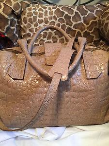 Jimmy-Choo-Nude-Croc-Embossed-Leather-Convertible-XL-Weekend-Travel-Duffel-Bag