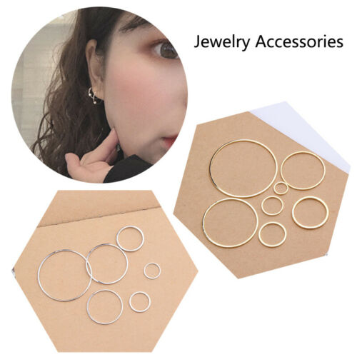 Rings for DIY Earrings Making Circle 10PCS//Pack Round Golden Silver