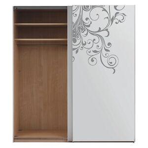 Flowers-Wall-Stickers-Tourbillon-Floral-Vinyle-Art-Chambre-Decalcomanie-armoire-decor