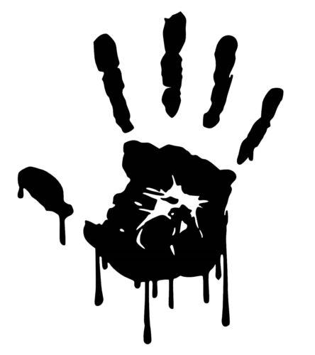 Zombie hand impresión Pegatina de vinilo Coche Decal//