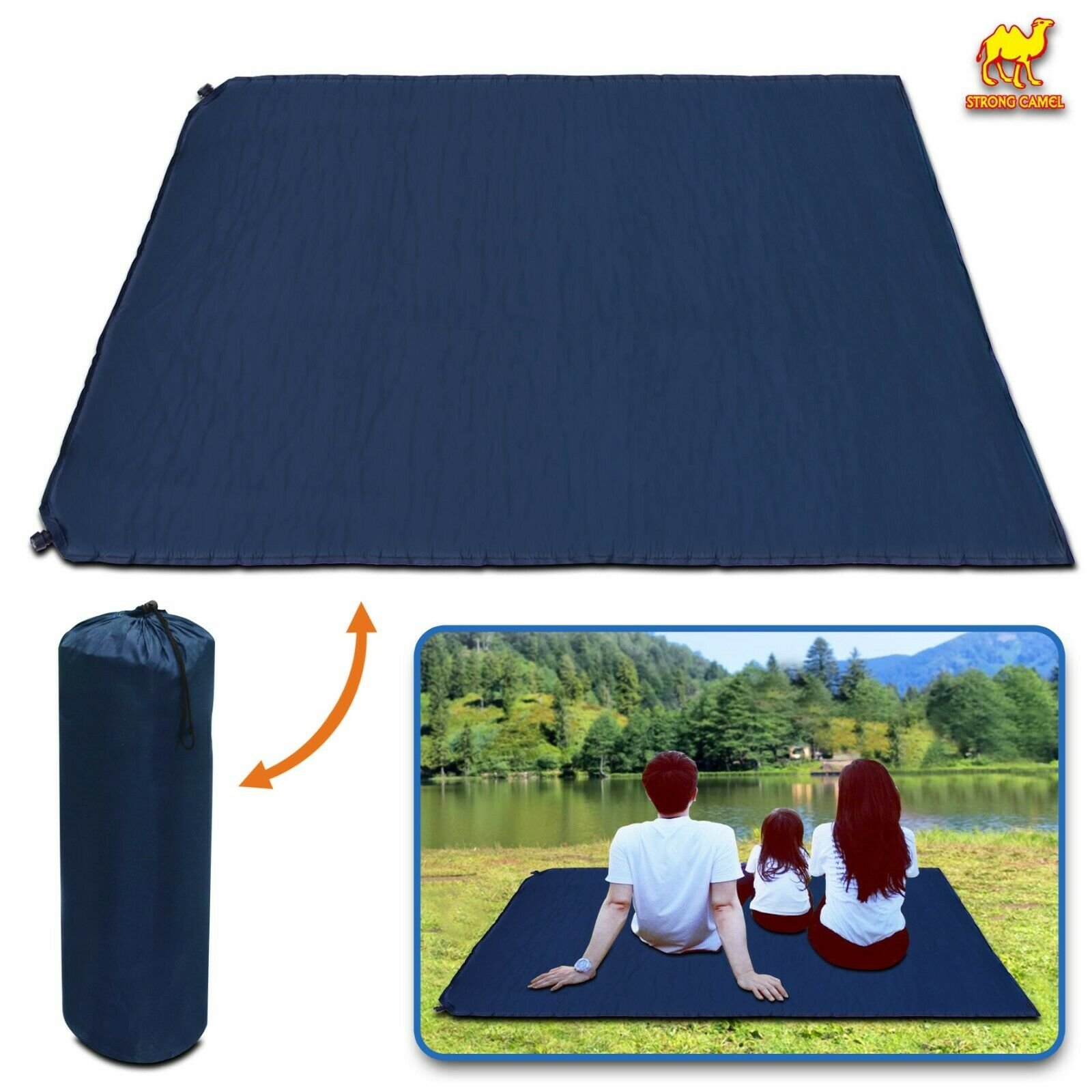 Portable Folding Camping Mat 2Person Blanket Tent Outdoor  Yoga Soft Sleeping Bed  high quaity