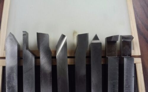 "5//8/"" shank 8pcs//set Solid HSS tool bits offset cranked turning #Z-2662-2006-new"