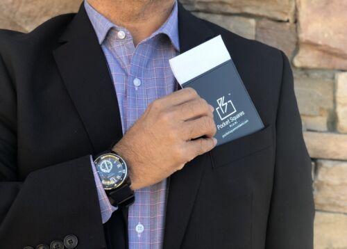 Pre Folded Pocket Square..100/% Cotton...Executive..Prom..Graduation