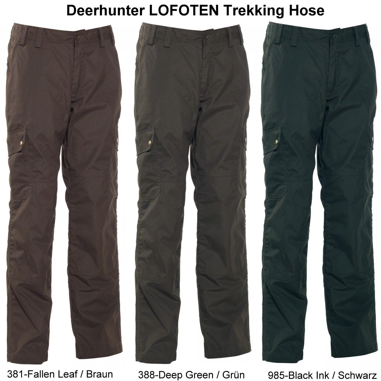 DEERHUNTER 3502 LOFOTEN Jagdhose Trekkinghose green, brown od. black Gr. 48-70