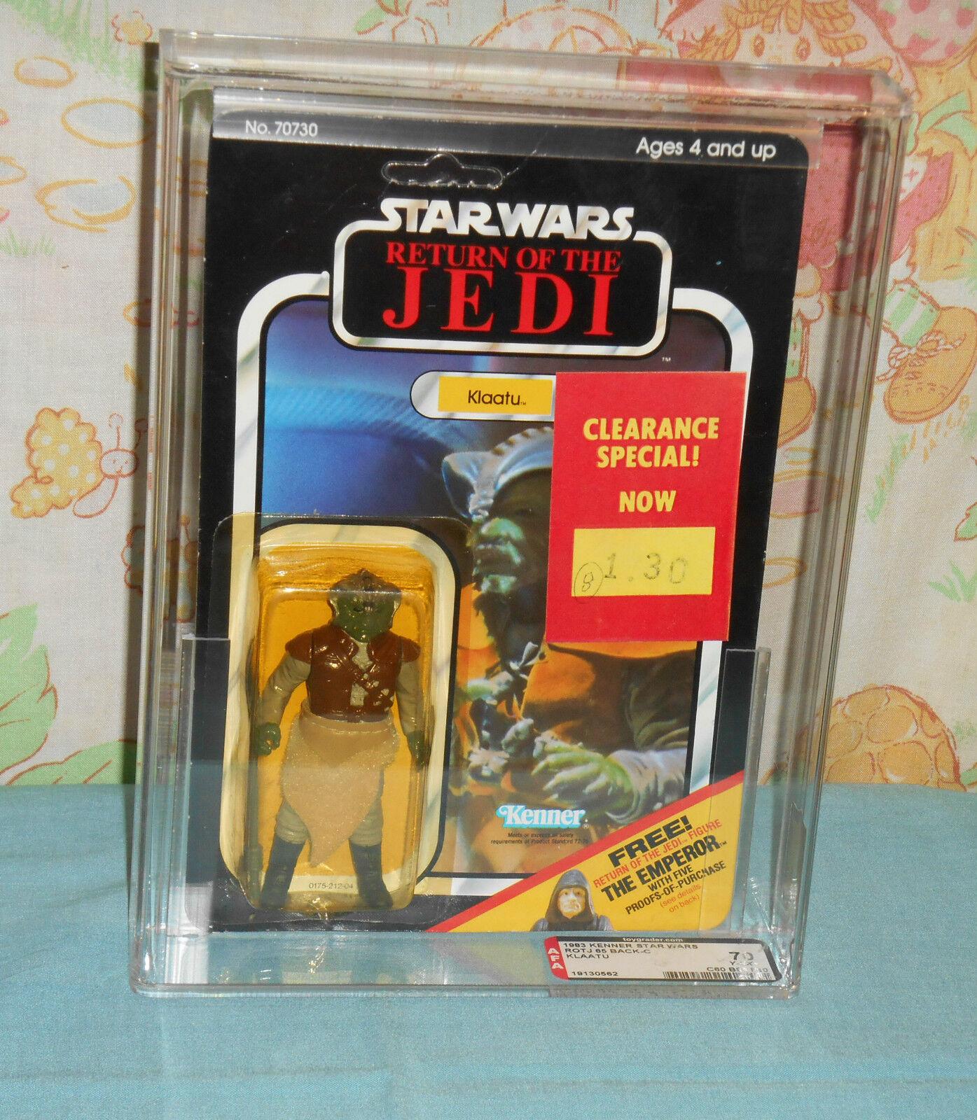 De colección Guerra de las galaxias retorno de las Jedi Klaatu menta en tarjeta figura de acción autoridad 70Y