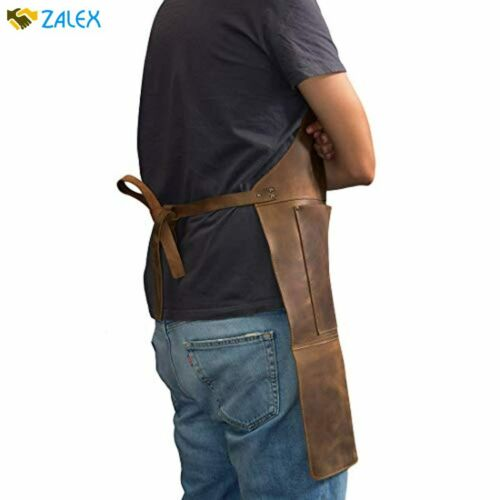Hide /& Drink Durable Leather Apron Utility Tool Pockets Adjustable Chef Butcher