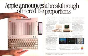 1984-Apple-IIc-Personal-Computer-photo-Size-Breakthrough-2-page-vintage-print-ad