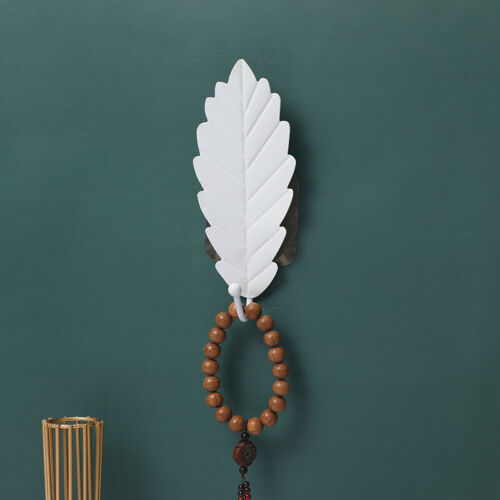 Nordic Leaves Shape Hook Non Punch Hanger Coat Key Hook Home Wall Hanging Decor
