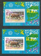 Indonesië Zonnebloem  Blok 30 + 31 postfris (getand en ongetand)  motief dieren