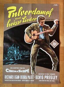 Pulverdampf-und-heisse-Lieder-Kinoplakat-039-57-Elvis-Presley-Debra-Paget