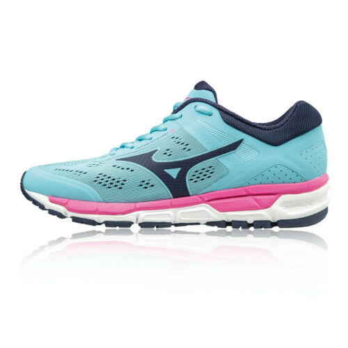 Mizuno Womens Synchro MX 2 Running Shoes Trainers Sneakers Blue Sports