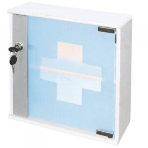 Home-Medical-Supplies-with-Glass-Door-Medicine-Cabinet-Wardrobe-Lockable