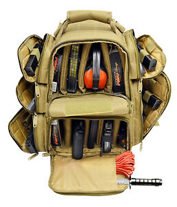 Ultimate-Deluxe-Tactical-Pistol-TAN-Range-Backpack-Polyester-600-D-Heavy-Duty
