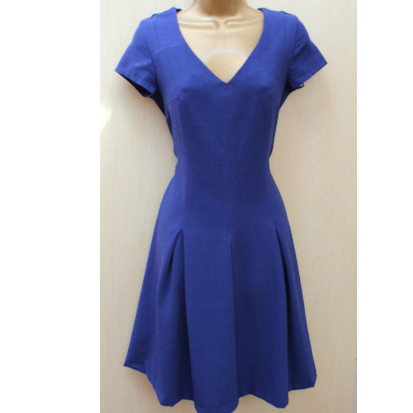 Next Classic Purple Crepe Fluted Tea Dress Casual Office Occasion Evening