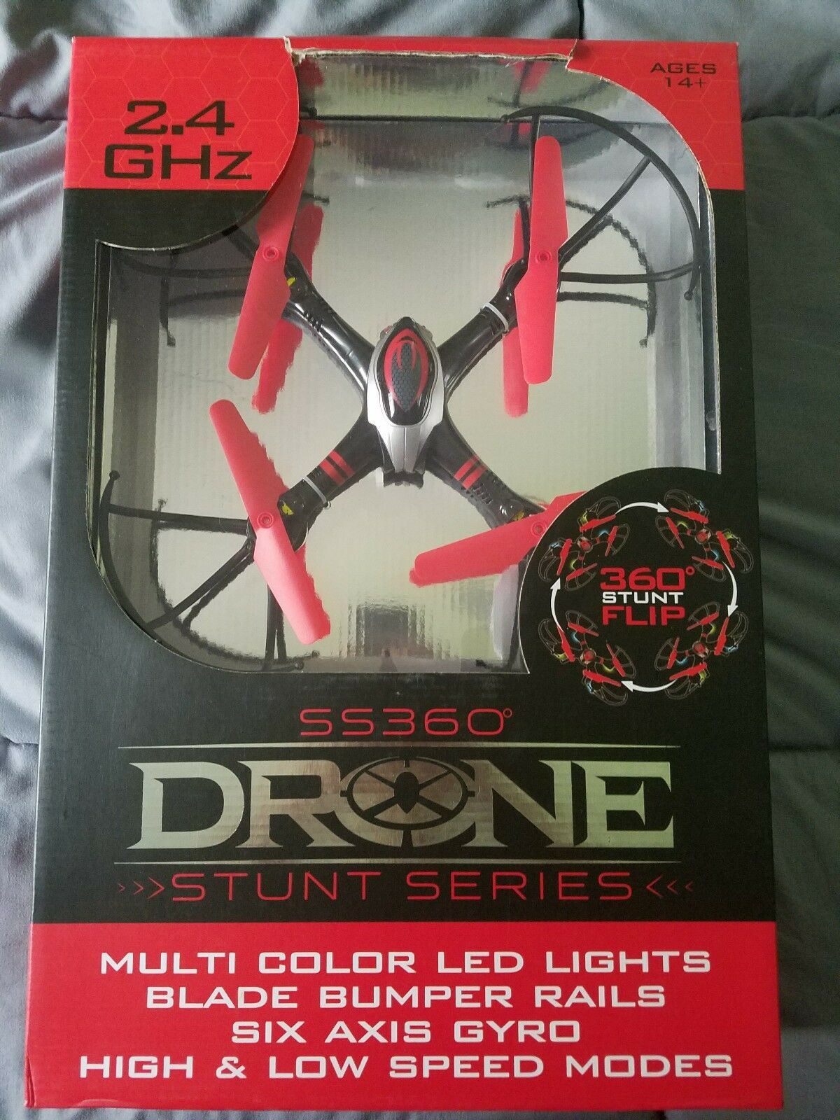 SS360 Stunt Series Drone 2.4 GHz COMPLETE    NEVER USED, UNOPENED IN BOX