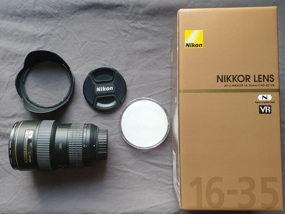 Vidvinkel zoom, Nikon, Nikon AF-S Nikkor 16-35mm 1:4 EG VR