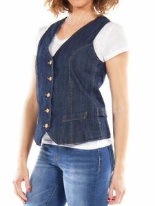 583ae4543c Dettagli su Carrera Jeans - Gilet Jeans per donna
