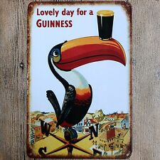 Metal Tin Sign lovely day for a guinness Decor Bar Pub Home Vintage Retro Poster