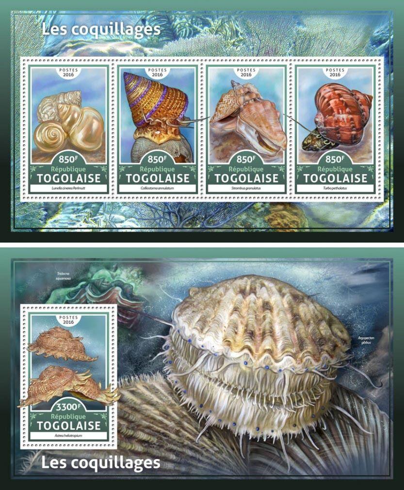 Shells Marine Fauna Nature Togo MNH stamp set