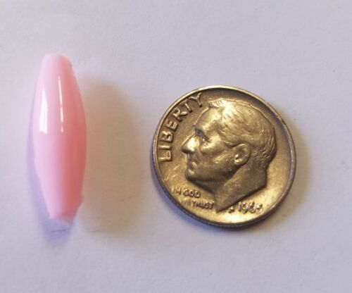500 pcs Opaque Pink Plastic Acrylic Spaghetti 19mm x 6mm Oval Craft Beads