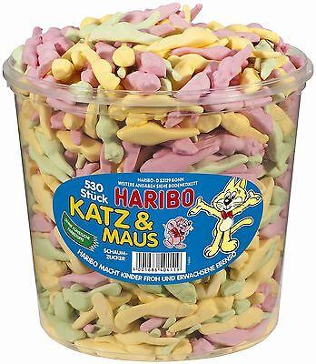 (1000g=5,18€) Haribo Katz & Maus - Schaumzucker - 530 Stück