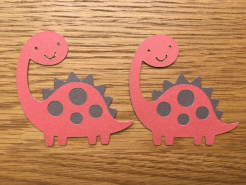6x Dinosaur Card Toppers Die Cuts Papercraft Embellishments Birthday Boys Son