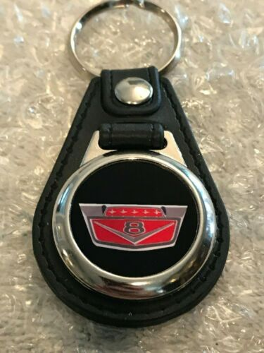 Ford V8 BLACK AND RED KEYCHAIN