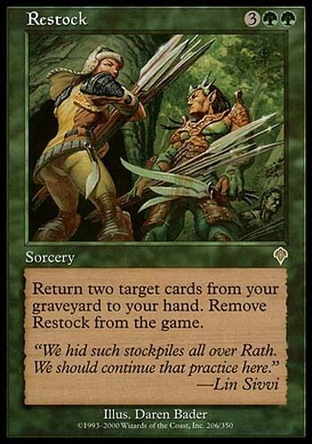 1x Restock Invasion MtG Magic Green Rare 1 x1 Card Cards