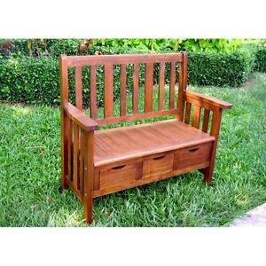 Amazing Details About International Caravan 3 Drawer Acacia Bench W Arms Brown Dailytribune Chair Design For Home Dailytribuneorg