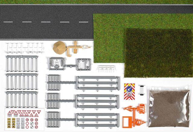 Busch 1166, Set Straßengestaltung und Mäharbeiten, neu, OVP, Straße