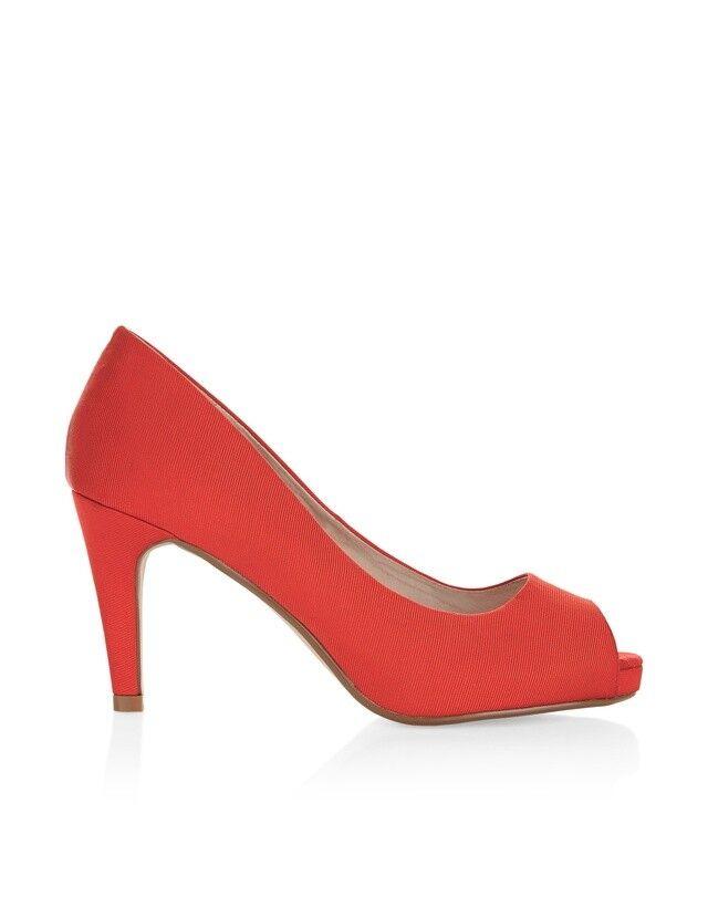 Monsoon Geri Comfort Peeptoe chaussures UK 9 EU 42 JS182 YY 04