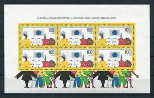 Bund-Block-21-postfrisch-6-x-Nr-1472-Briefmarken-Ausstellung-der-Jugend-BRD-MNH