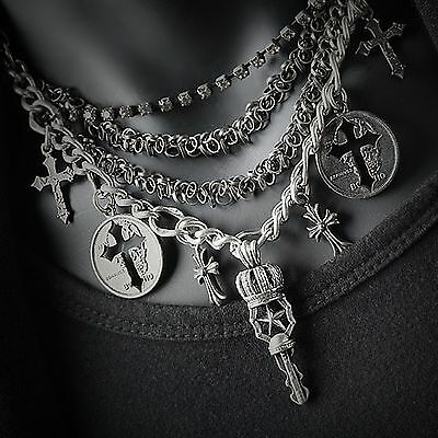 Guntwo Korean Mens Fashion Necklaces - Biker, Hip Hop Cross Necklace N2190 US
