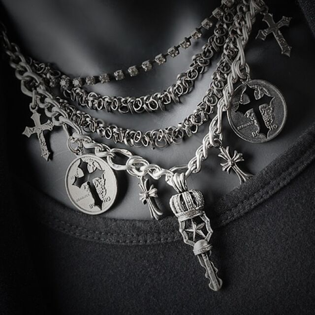 Guntwo Korean Mens Fashion Necklaces - Biker, Hip Hop Cross Necklace N2190 US