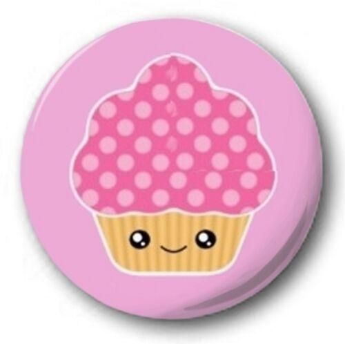 """KAWAII CUPCAKE Novelty Cute Joke 25mm 1/"""" Button Badge"""