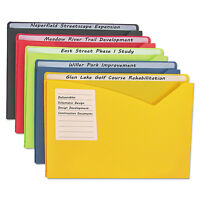 C-line Write-on Expanding Poly File Folders 1 Exp. Letter Assorted Colors 25/bx on sale