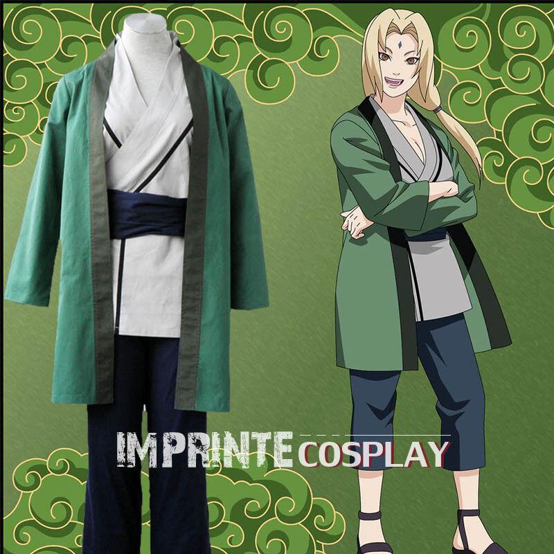 Naruto Tsunade Cosplay Kostüm Vollständiges Set