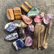 17pcs combination of natural quartz crystal mineral rough specimens 60G AZ05