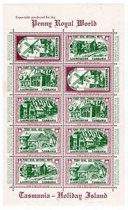 I-B-Australia-Tasmania-Cinderella-Penny-Royal-Mini-Sheet