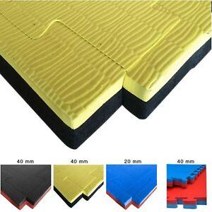 Details about Tatami 20mm 40mm x 1m x 1m Jigsaw Mat Martial Art /Judo /MMA  Reversible Mats