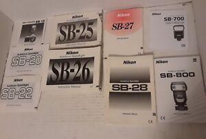 instruction manual nikon speedlight flash sb 26 ebay rh ebay com Nikon SB- 80DX Nikon SB- 80DX