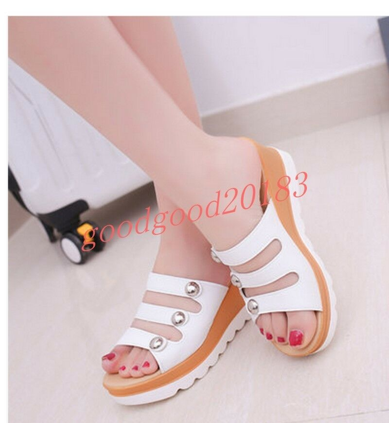 Womens Heels Wedge High Heels Womens Sandals Slippers Shoes Fashion Summer Beach New Hot Chic b2f1ab