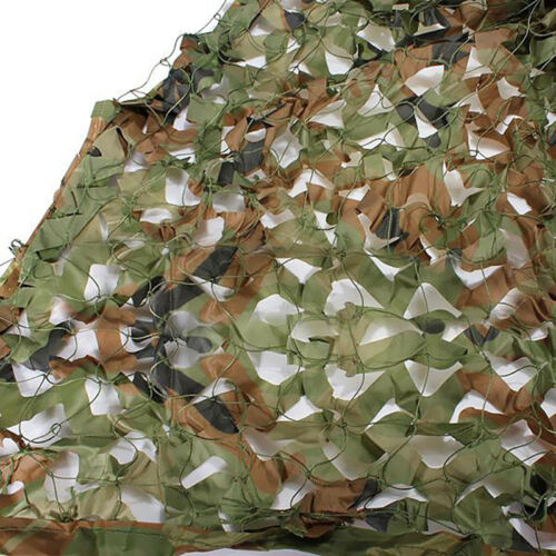 Car Shade Woodland Camouflage Net Camo Cloths Cover Outdoor Sun Shelter US