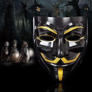V for Vendetta Mask Guy Fawkes Anonymous Halloween Masks Fancy Dress Costume US